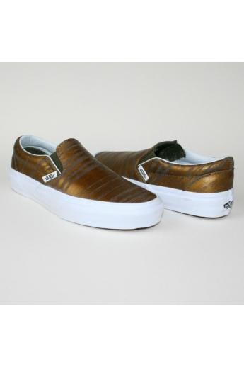 VANS CLASSIC SLIP ONE BRUSHED METALIC gyerek slip-one, cipő, barna színben, VN 0003DVHXW modell