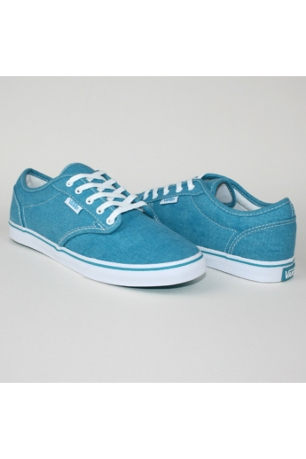 VANS ATWOOD LOW WASHED női sportos cipő sneaker, neon blue színben, VN-0 NJO6HA modell