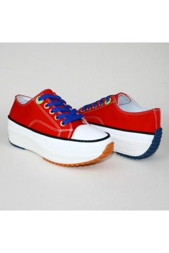 BELLA női platform sneaker-piros