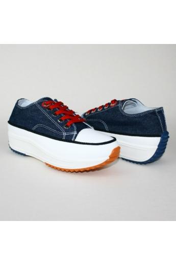 BELLA női platform sneaker- farmerkék