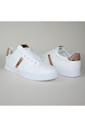 EMILIE női sportos cipő sneaker-fehér rózsaarany