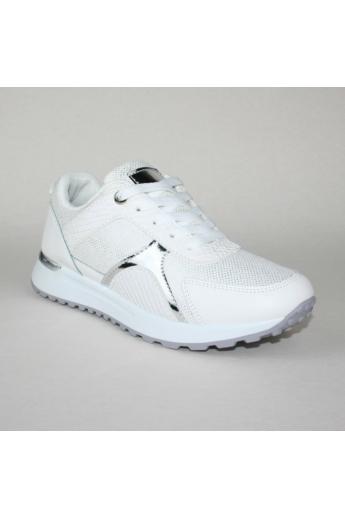 LUCIA női sportos cipő sneaker-fehér ezüst