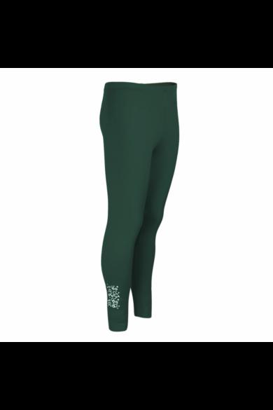 Dressa Jersey női pamut leggings - sötétzöld | S