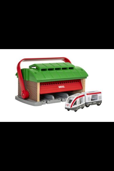 Vonat garázs hordozható 3474 Brio