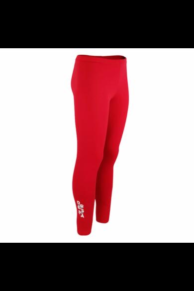 Dressa Jersey női pamut leggings - piros | S