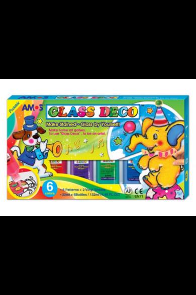 Üvegfesték szett elefánt 6 színű Amos