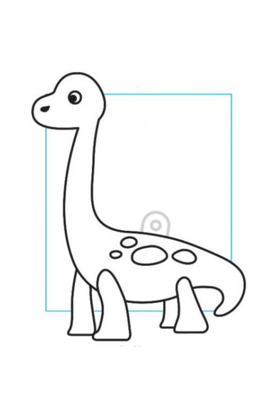Kifesthető műanyag kép S-es méret - Brachiosaurus