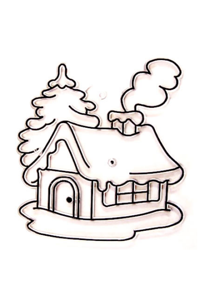 Kifesthető műanyag kép S-es méret - Téli házikó
