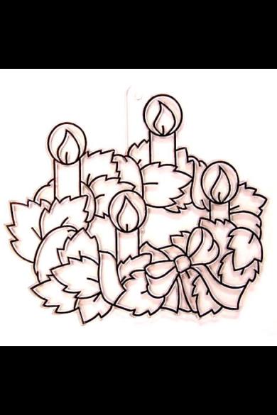 Kifesthető műanyag kép S-es méret - Adventi koszorú