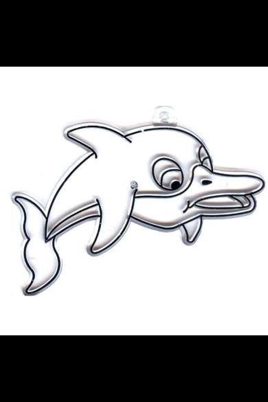Kifesthető műanyag kép S-es méret - Delfin