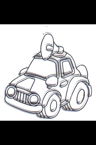 Kifesthető műanyag kép S-es méret - Autó megafonnal