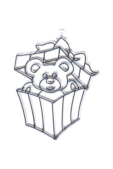 Kifesthető műanyag kép S-es méret - Maci dobozban