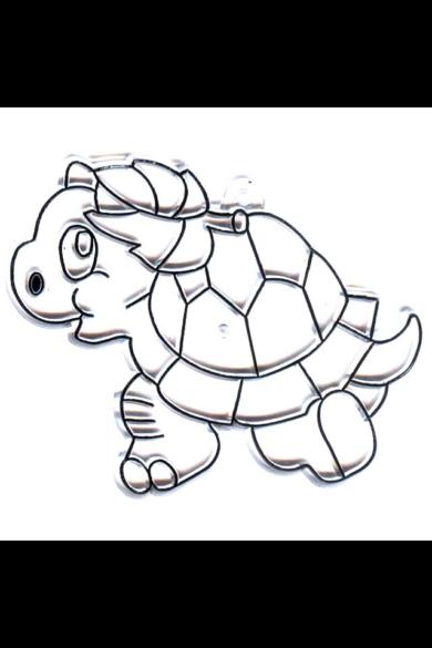 Kifesthető műanyag kép S-es méret - Teknős