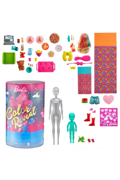 Barbie Color Reveal: Pizsiparty- Barbie és Chelsea babával