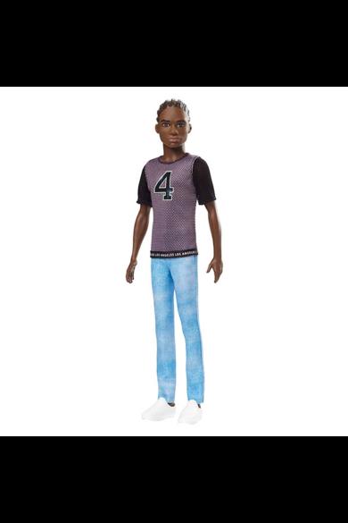 Barbie Fashionistas barátok fiú babák - Fekete poló- farmer