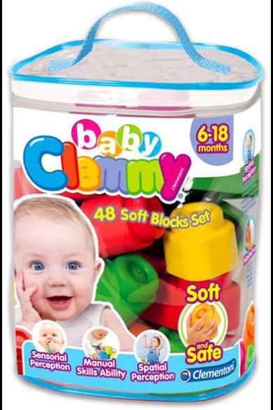 CLEMMY BABY PUHA, BÉBI ÉPÍTŐJÁTÉK SZETT Clementoni