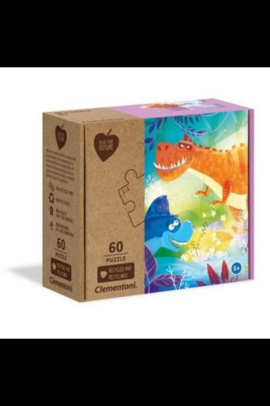 60 db-os Play for future puzzle - Őrült dinó barátok