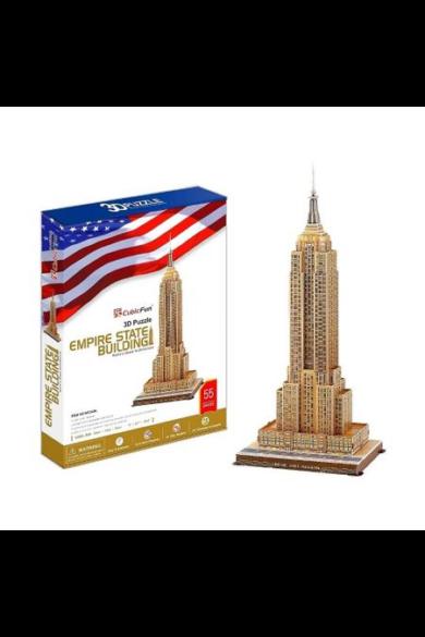 3D puzzle nagy Empire State Building 66 db-os CubicFun