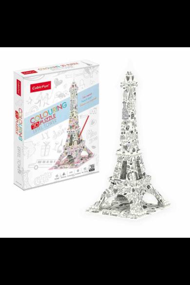 3D puzzle kiszínezhető Eiffel torony