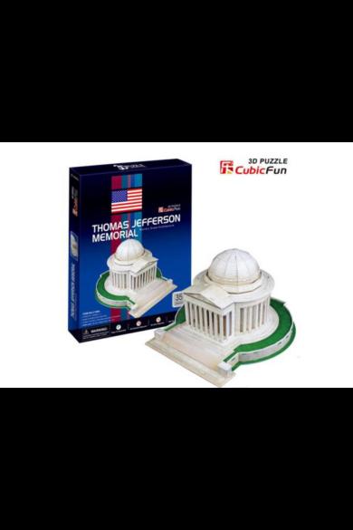 3D Puzzle közepes méret Thomas Jefferson Memorial 35 db-os CubicFun