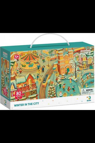 Dodo Megfigyelő Puzzle 80 db - A téli város