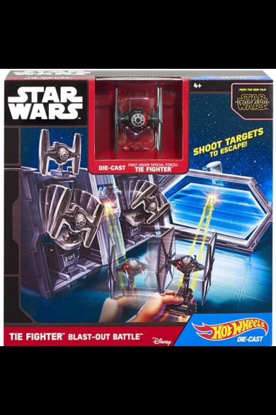 Star Wars Csillaghajó közepes pálya - Tie Fighter Hot Wheels