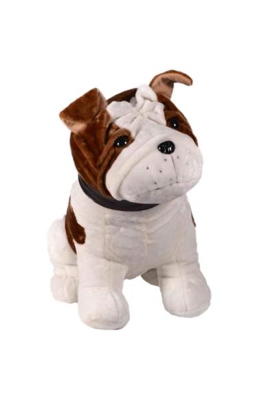 Bulldog, kutya, felfújós, plüss, 65 cm, + pumpa + hordozó