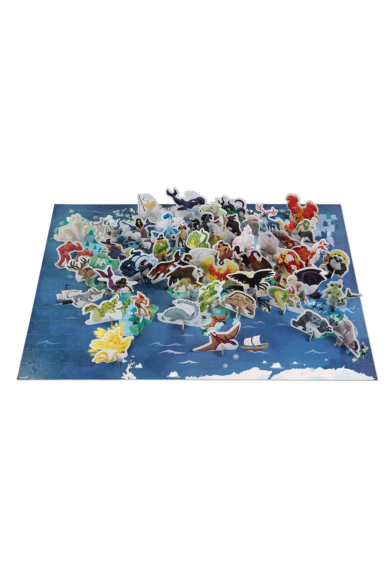 Oktató Puzzle és 3D figurák 350 darabos Misztikus élőlények 02680 Janod