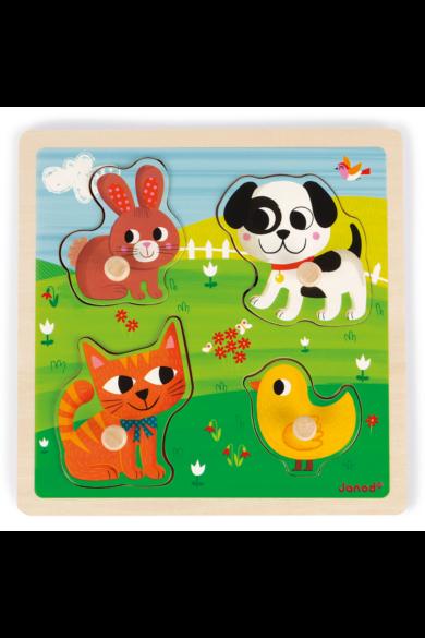 Tapintós puzzle - első állataim 07080 Janod