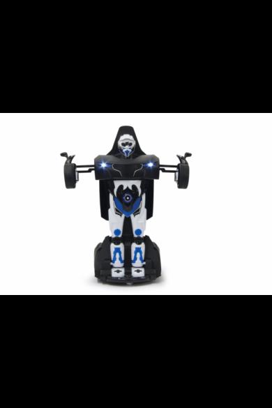 Távírányítós transformer kisautó - Robicar 1:14 fénnyel és hanggal, fekete 410031 Jamara