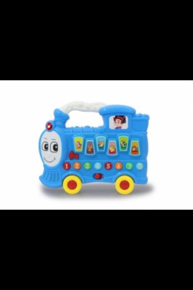 Bébi készségfejlesztő vonat hanggal, kék 460595 Jamara