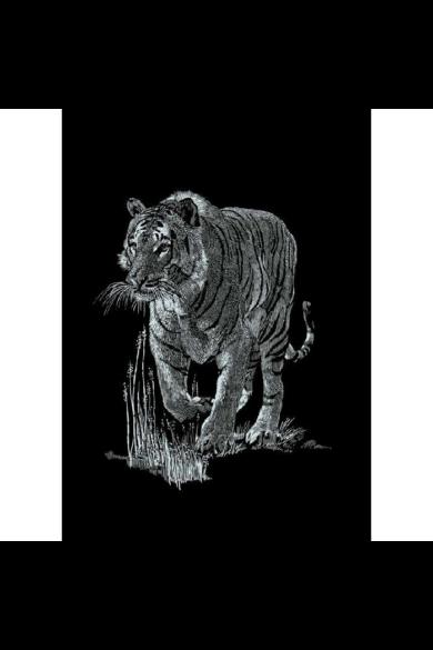 Mammut Ezüst képkarcoló Tigris (11*18 cm) Mini