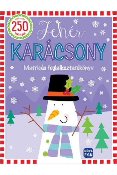 Fehér karácsony - Matricás foglalkoztatókönyv