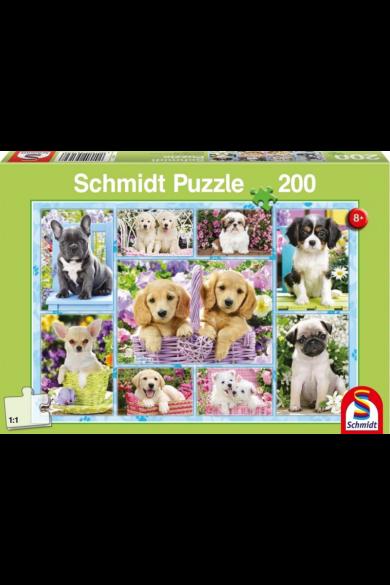 Kiskutyák  puzzle 200 db-os 56162 Schmidt