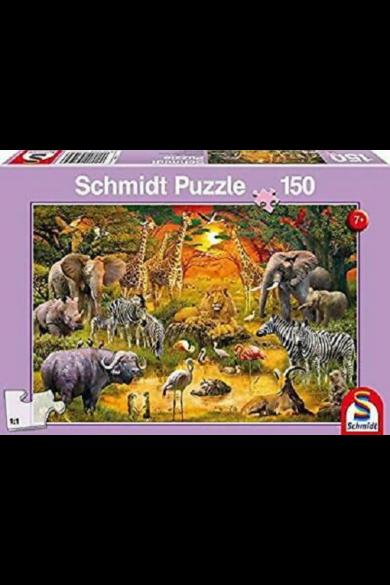 Afrikai állatok puzzle 150 db-os 56195 Schmidt