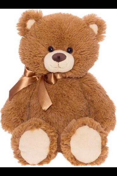 Barna medve szalaggal 45 cm