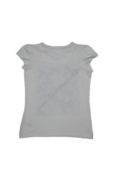 Eredeti DEBENHAMS kislány kerek nyakú masnis rövid ujjú póló, fehér színben, 122/128 7-8 éves méretben Állapota: újszerű Váll szélesség: 27 cm Mell szélesség: 35 cm Hossz: 47 cm