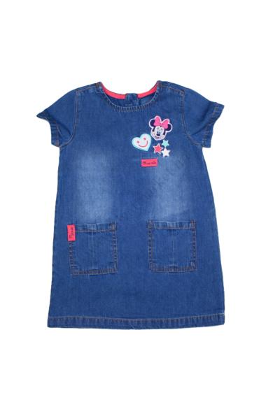 Eredeti DISNEY MINNIE kislány farmerruha, kék színben, 18-24 hónapos méretben Állapota: újszerű Váll szélesség: 22 cm Mell szélesség: 29 cm Hossz: 50 cm
