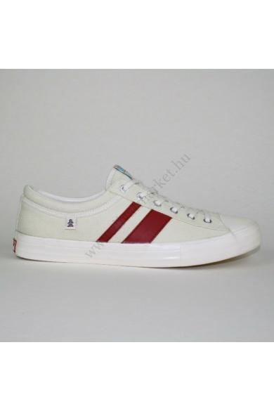 Eredeti ORIGINAL PENGUIN férfi vászon sportos cipő, kellemes törtfehér színben, végig fűzős, extra puha talprésszel, uk11 45 méretbenÁllapota: újszerűBelső talphossz: 29.5 cm