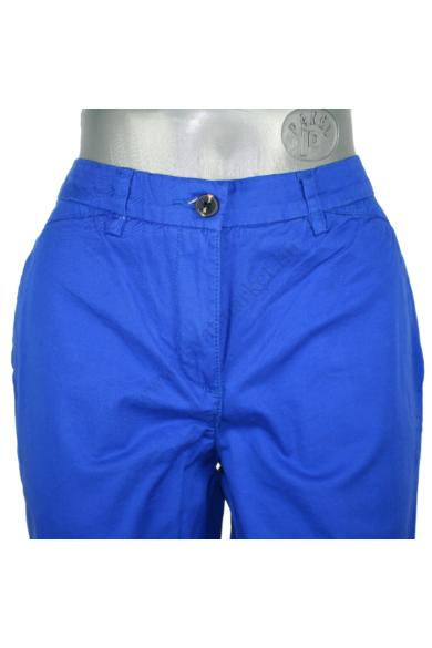 Eredeti H&M női hosszú nadrág, kellemes kék színben, 97 % pamut és 3 %elasztán anyagösszetételű, rugalmas anyagú, cipzáras, 34 méretben Állapota: újszerű Mért adatok: Derékbőség: 36 cm Csípőbőség: 45 cm Derék-ülep:24 cm Hossz: 99 cm Szárszélesség: 14