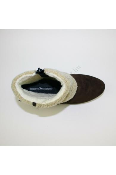 Eredeti REMONTE női bőr (velúr) ék(teli) talpú bokacsizma uk4 37 méretben