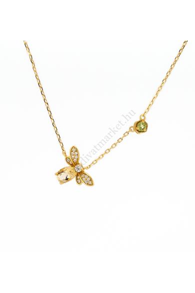 MILO méhecskés női nyaklánc aranyszínű, méhecske medálos, 925 ezüst nyaklánc. Bámulatos kidolgozású, cirkónia kristályos berakású méhecske motívum található az aranyszínű, Sterling ezüst nyakláncon. Ezt a nagyon hasznos kis élőlényt borostyánsárga kristál