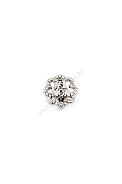 PARIS #1MOM charm karkötő kiegészítő cirkónia kristály berakásos,flexibilis karkötőhöz