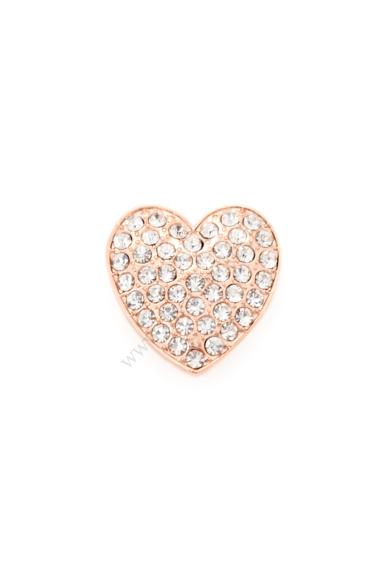 PARIS nagy szív charm karkötő kiegészítő cirkónia kristály berakásos,flexibilis karkötőhöz