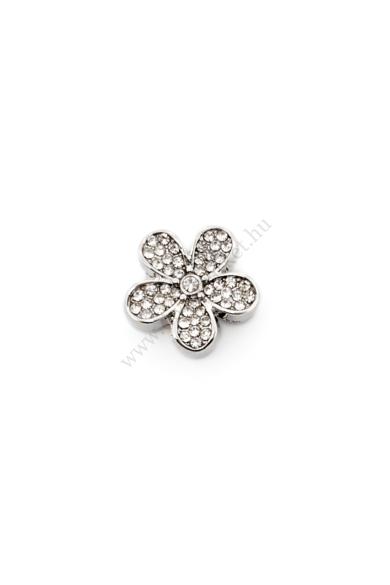 PARIS virág charm karkötő kiegészítő cirkónia kristály berakásos,flexibilis karkötőhöz
