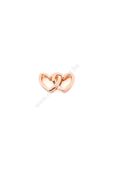PARIS egymásban fonodó szív charm karkötő kiegészítő flexibilis karkötőhöz Színe: rózsaarany Anyaga: ötvözet Építs flexibilis karkötőt az általad választott charmokkal!