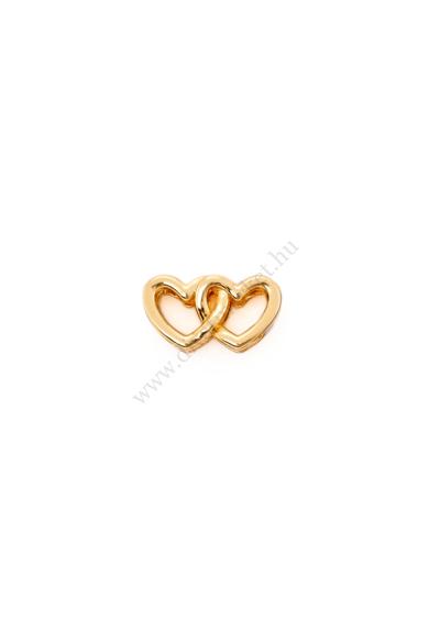 PARIS egymásban fonodó szív charm karkötő kiegészítő flexibilis karkötőhöz Színe: arany Anyaga: ötvözet Építs flexibilis karkötőt az általad választott charmokkal!