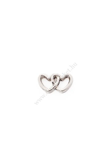 PARIS egymásban fonodó szív charm karkötő kiegészítő flexibilis karkötőhöz Színe: ezüst Anyaga: ötvözet Építs flexibilis karkötőt az általad választott charmokkal!