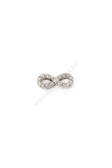 PARIS infinite (végtelen) charm karkötő kiegészítő cirkónia kristály berakásos,flexibilis karkötőhöz Színe: ezüst Anyaga: ötvözet Építs flexibilis karkötőt az általad választott charmokkal!
