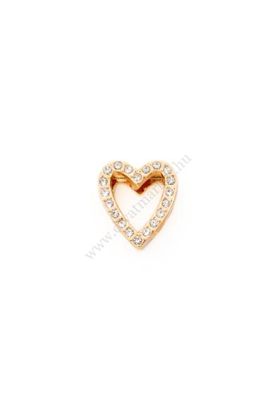 PARIS szív charm karkötő kiegészítő cirkónia kristály berakásos,flexibilis karkötőhöz Színe: arany Anyaga: ötvözet Építs flexibilis karkötőt az általad választott charmokkal!
